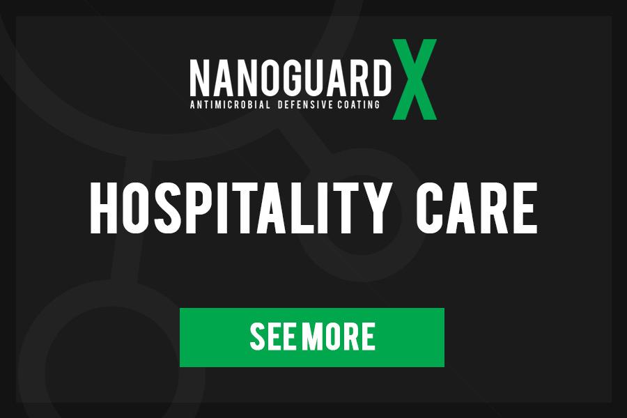 NanoGuard X Antimicrobial surface coating - Hospitality Care