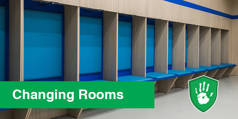 Germ Free Coating for Public changing rooms