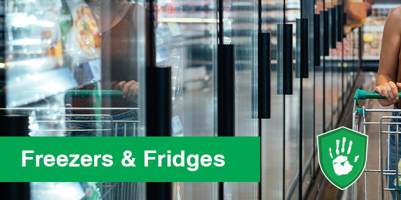 Safe touch coating for supermarket fridges antimicrobial protection