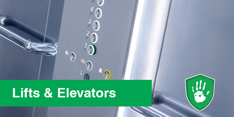 Germ Free Coating for Lift Buttons Elevator Buttons
