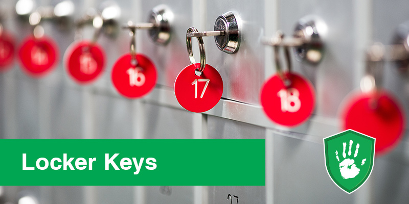 Germ Free Coating for Public Shared Locker keys