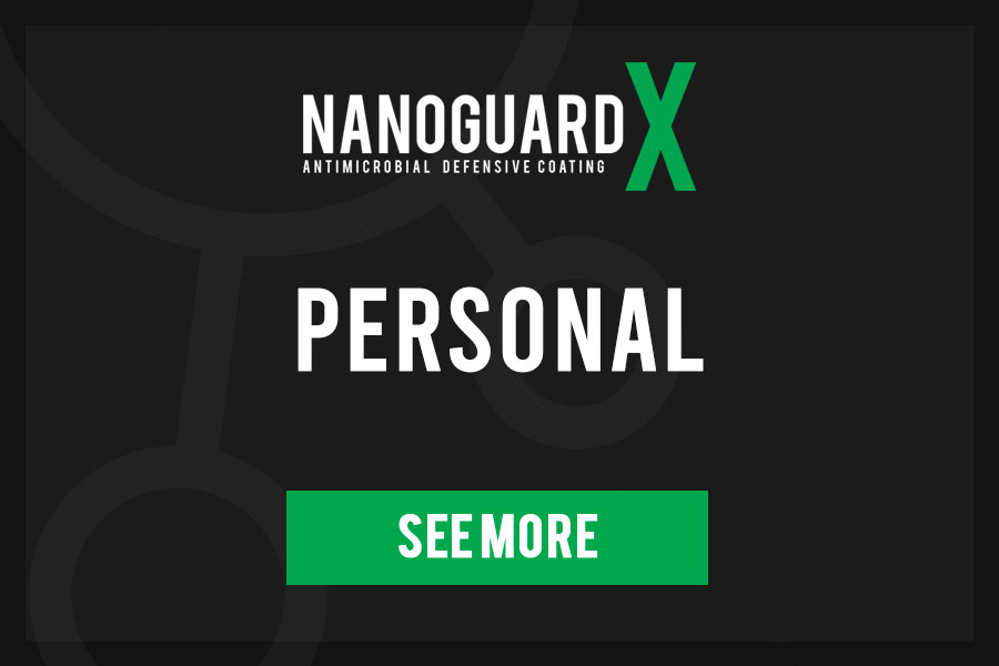 Antibacterial protection coating - personal devices - nanoguard x